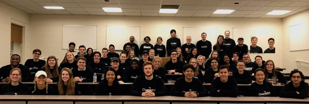 Class of 2021 chemistry majors